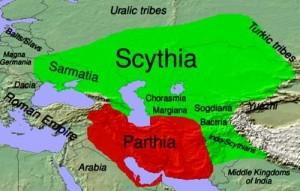 scythia, Parthia