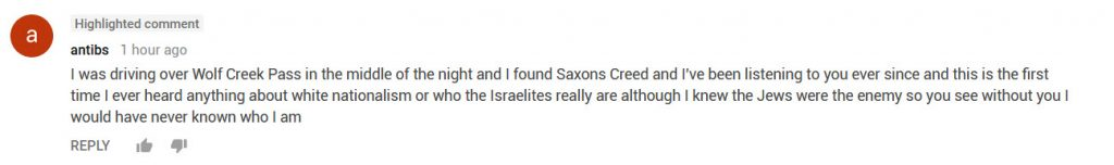 sAXON'S cREED cOMMENT